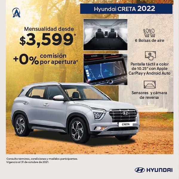 Hyundai Creta2022 promocion de octubre