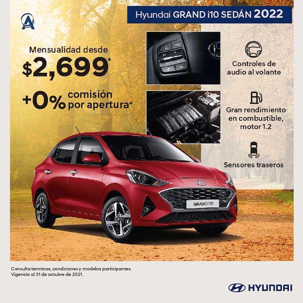 Promoción octubre Hyundai Grand i10 sedán 2022