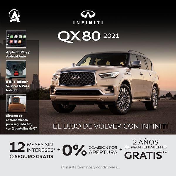 INFINITI QX80 2021 - PROMOCIÓN OCTUBRE
