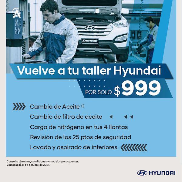 Promoción de Servicio de mantenimiento Hyundai a sólo 999 MXN