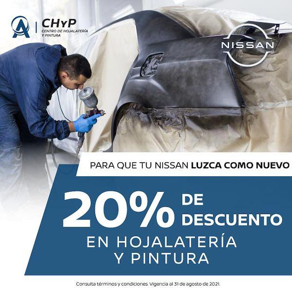 20% DE DESCUENTO EN HOJALATERIA Y PINTURA