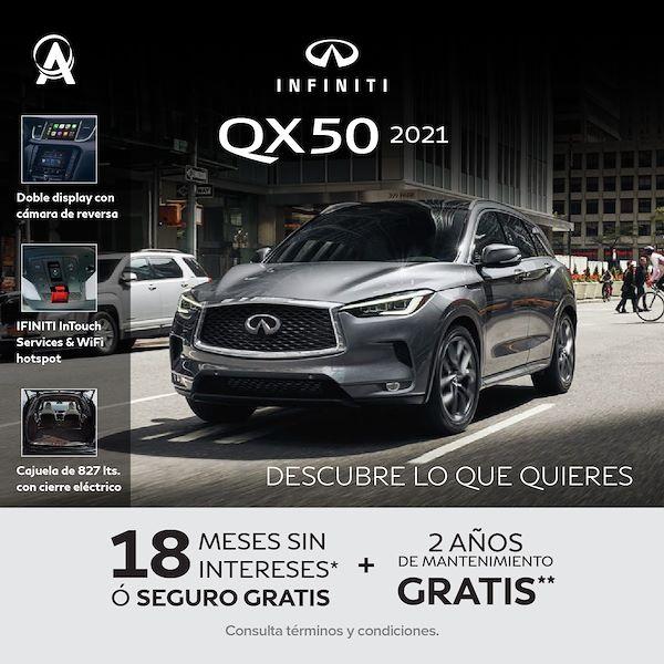 Promoción de octubre QX50 2021